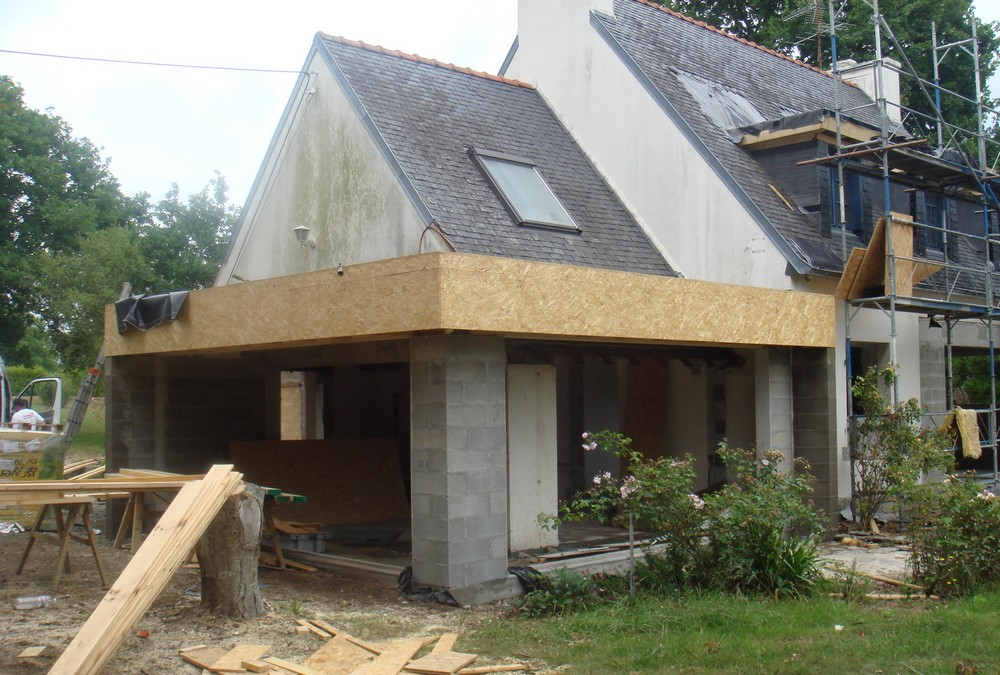 Travaux d'extension de maison